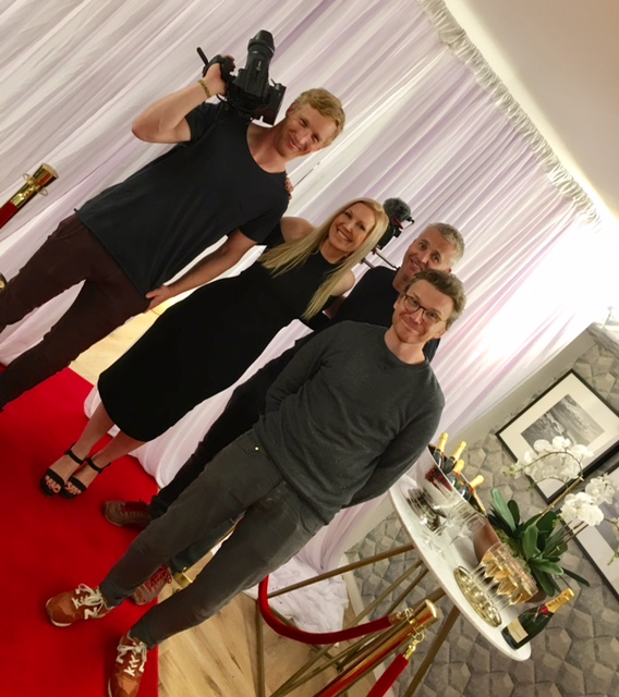 Rhian with camera crew